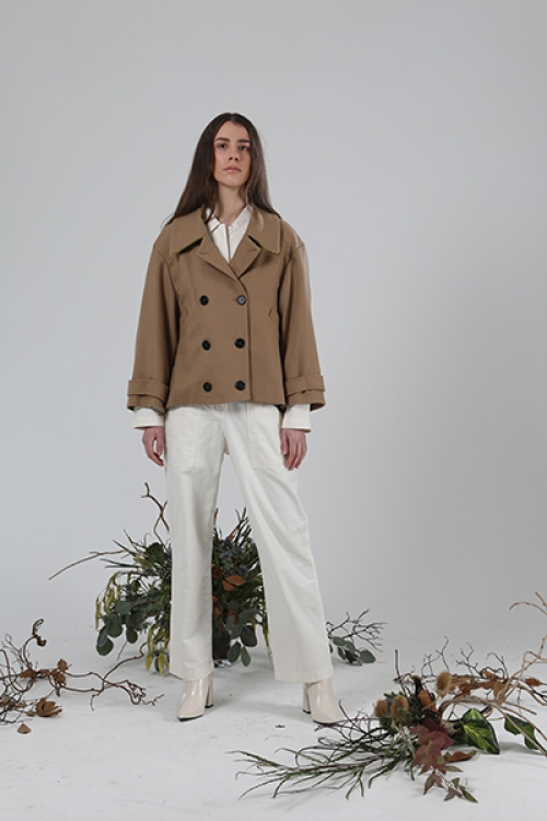 Double breasted Jacket - Camel