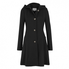 BLACK RIDING HOOD COAT