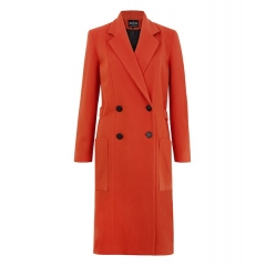 ORANGE HACKNEY COAT