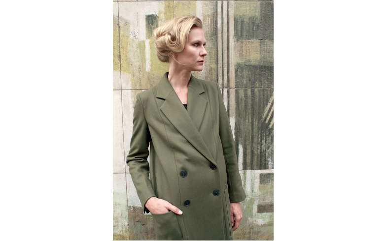 Khaki Hackney Coat