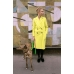 ACID YELLOW HACKNEY COAT