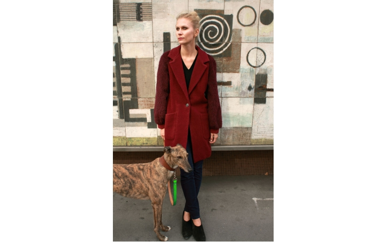 Deep Red Isobel Coat