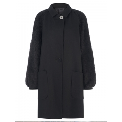 BLACK ISOBEL COAT
