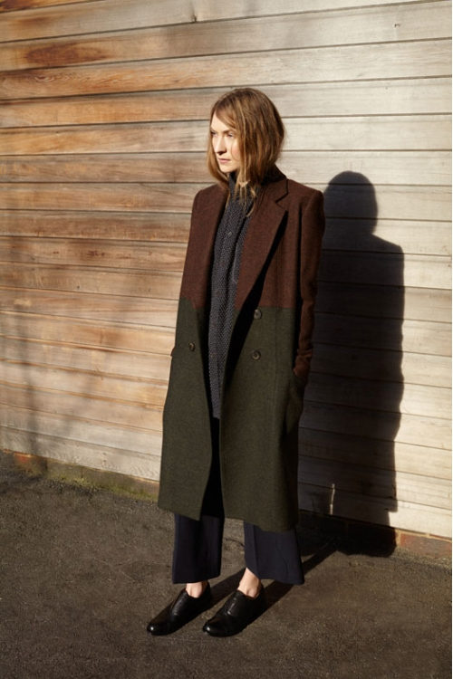 TWEED TWO-TONE HACKNEY COAT - made to order