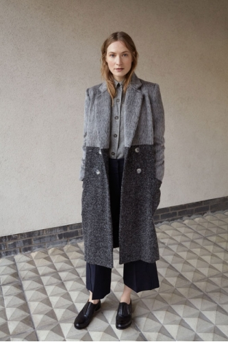 ALPACA TWO-TONE HACKNEY COAT - SOLD OUT