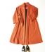 Orange Oversize Belter Coat