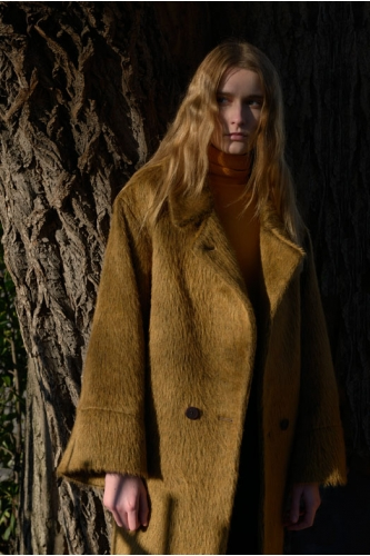 LOWSLUNG LURCHER CAMEL  COAT - sold out