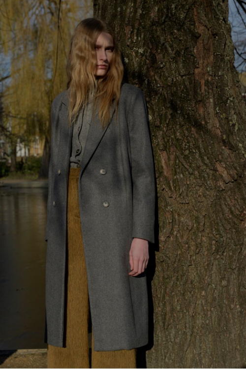 GREY  HACKNEY COAT