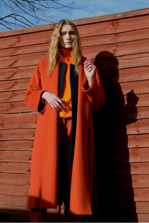 Orange Oversize Belter Coat