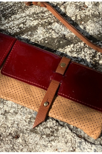 PATENT RED AND SAND TWIN PACK