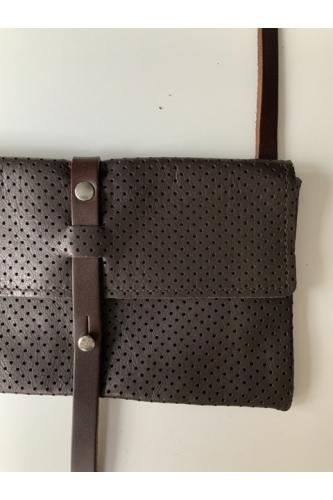TWIN PACK LOOP BAG IN PERFORATED BROWN