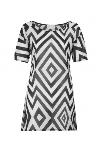 monochrome t-shirt dress