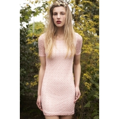 PINK CROCHET-LACE DRESS