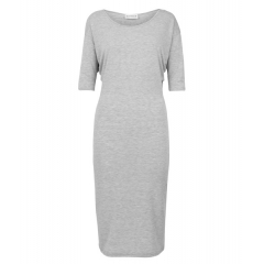 GREY BATWING DRESS