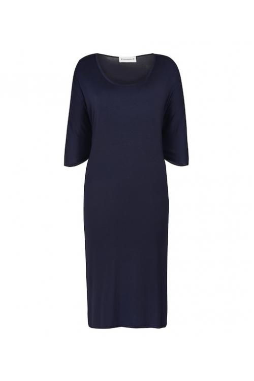 NAVY CAPE DRESS