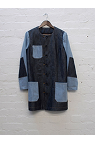 DENIM PATCH COAT