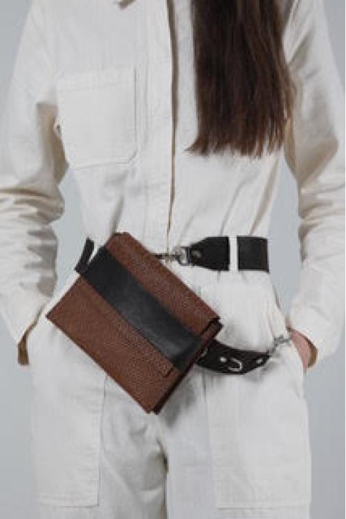 Brown shoulder belt bag