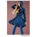 BLUE HOOD COAT - made to order