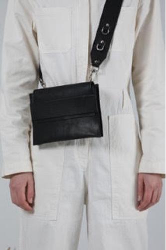 Black shoulder belt bag