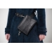 Black shoulder belt bag