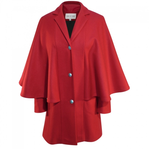 RED CAPE COAT